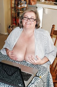 Mature Granny Face and Cleavage