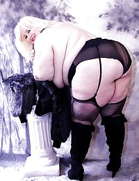 Mature BBWs in stockings XV