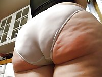 Big Butt in the Kitchen - Old Fat Mature Housewife