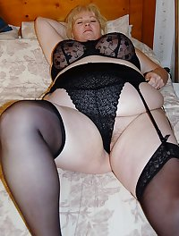 Mature BBWs in stockings 36