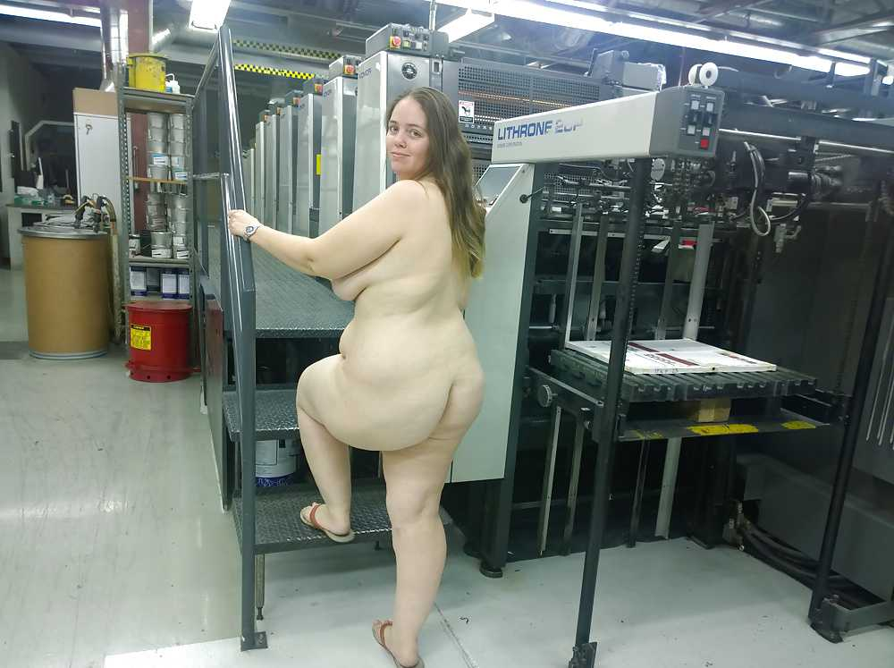Bbw naked in public